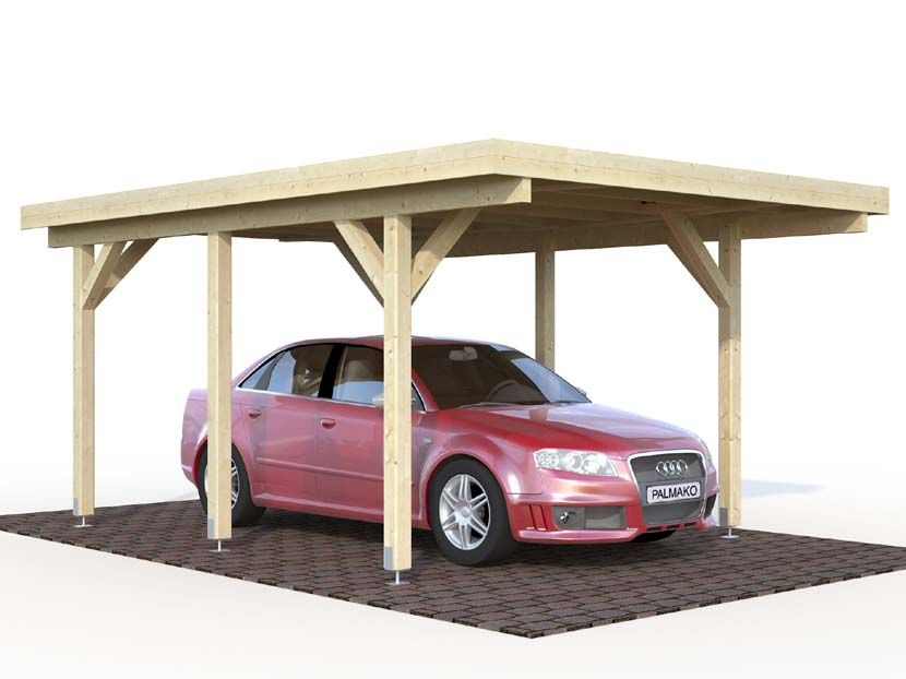 Cochera CARPORT KARL 11,7 360×512 m² 360×512