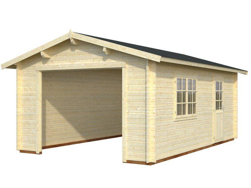 Garaje de madera ROGER 19,0 m² - Casas Carbonell - Kit garaje para ...