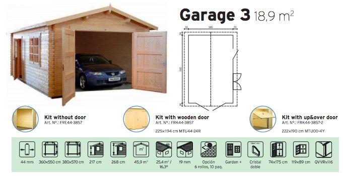 garaje de madera garage 3
