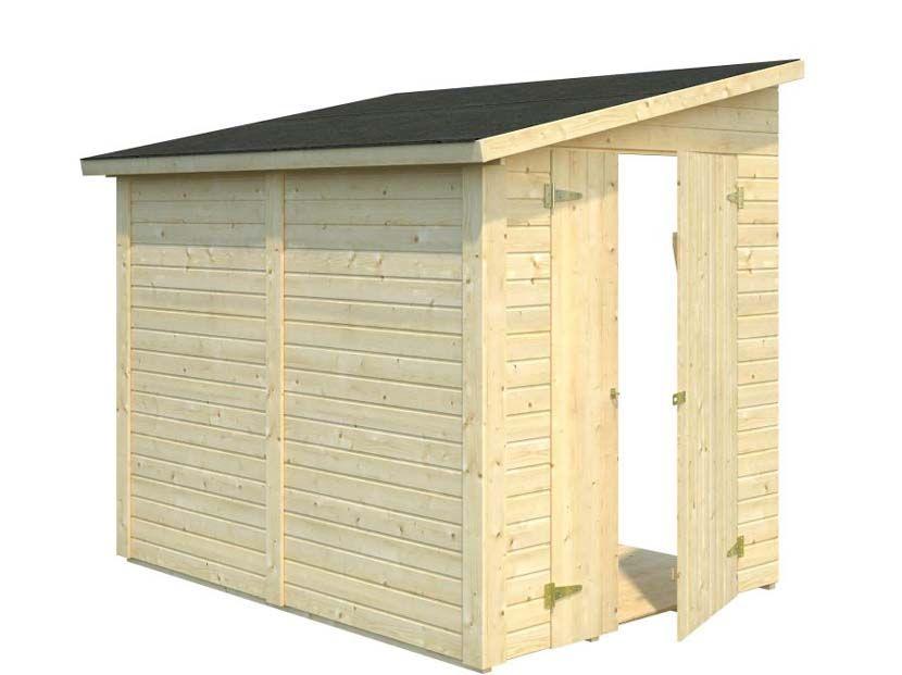 Cobertizo contenedores de madera MIA 3,4m² 222×165