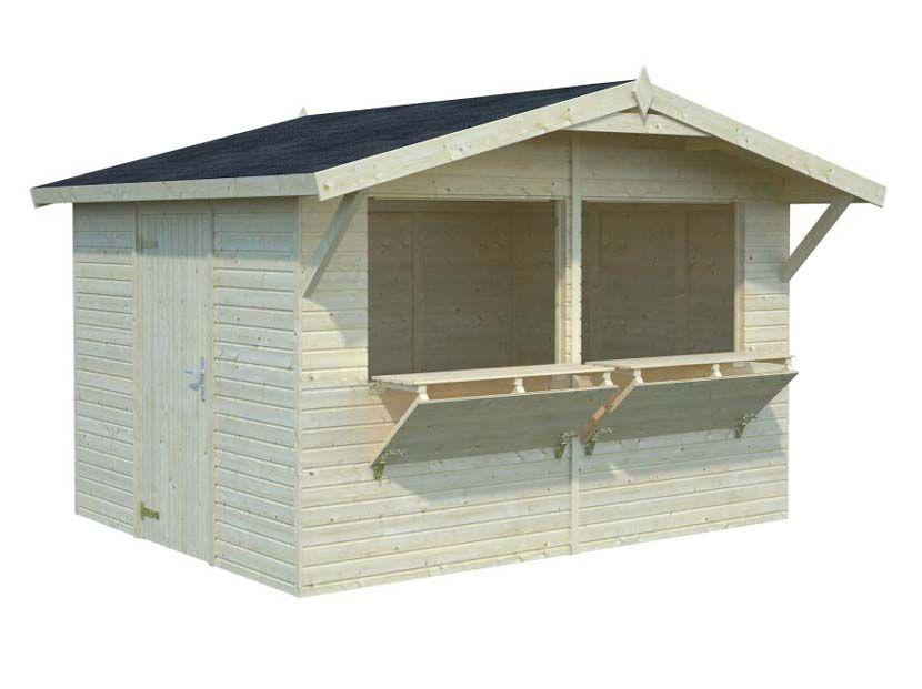 Kiosco de madera Stella 8,2m² 323×259