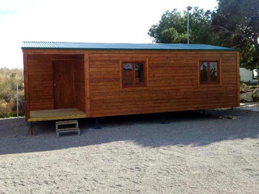 Casas económicas de madera modelo CCR42, casa modular de 42m²