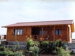 casas de madera de medio tronco, modelo Missouri de Casas Carbonell