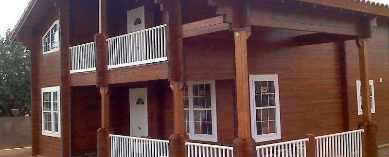 edificacion de casa de madera de Casas Carbonell