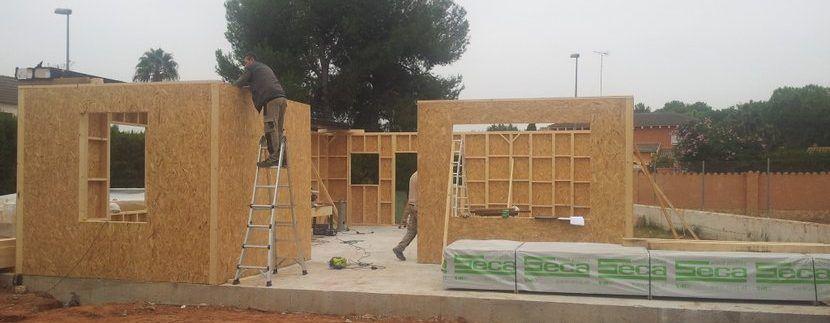 Construcción de una casa de madera de entramado ligero
