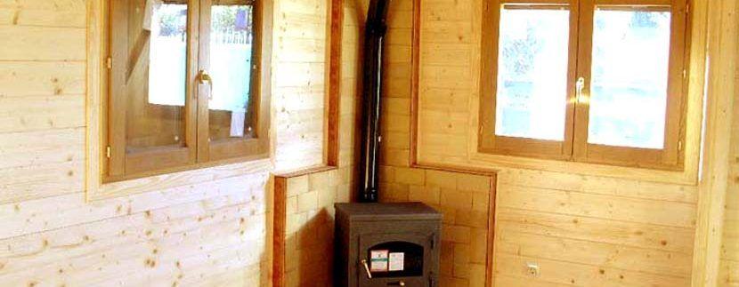 Estufa casas de madera Carbonell