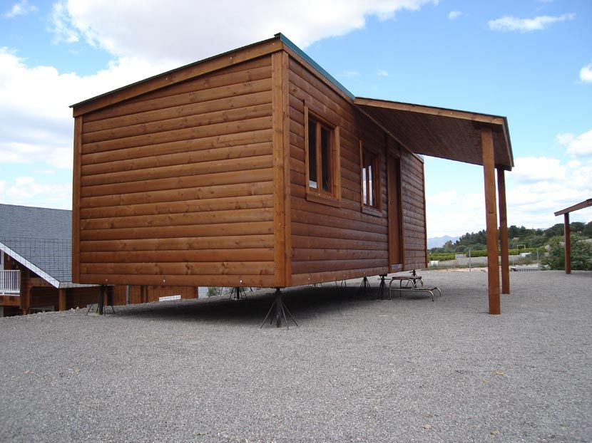 Casa de madera económica CCR28 prefabricada modular