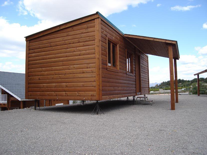 Casa de madera economica CCR28 prefabricada modular 28m²