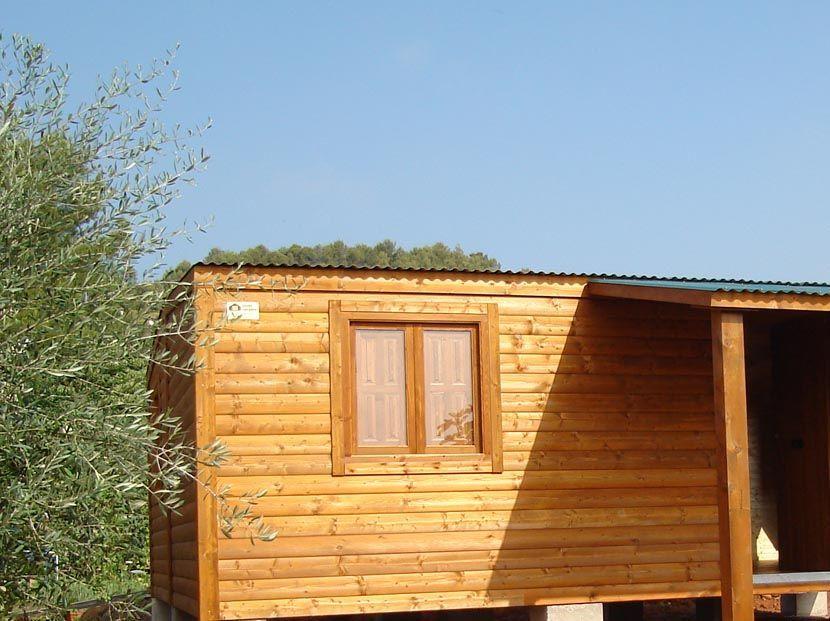 Casa de madera económica modelo CCR50, casa modular de 50m²