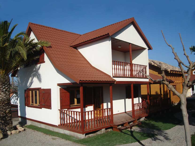 Casas de madera prefabricada modelo lotus casas carbonell for Modelos casas prefabricadas