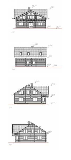 Alzados de casas prefabricadas en kit Catherine