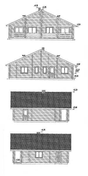 Alzados de casas de madera kit Esther