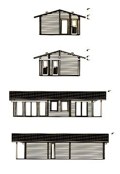 Alzados de cabaña de madera en kit Astrid