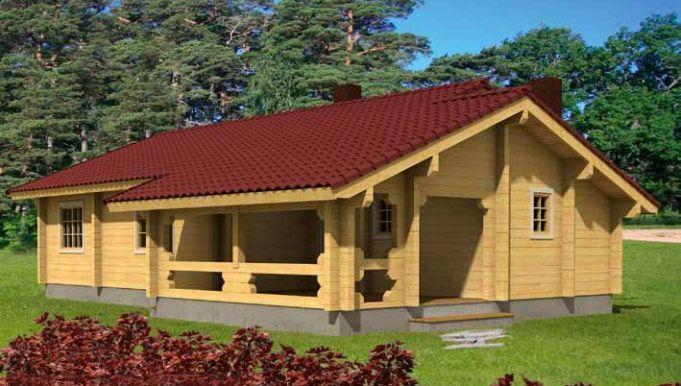 Casa en Kit de madera Britta 104,5m² – 13,80×9,50
