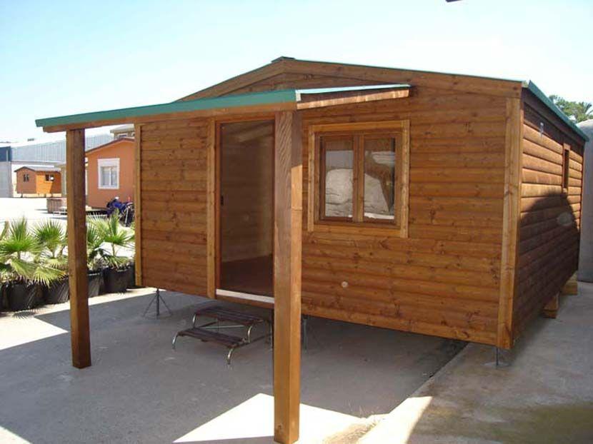 Casas de madera económicas CCR33 2H, casa modular de 33m²