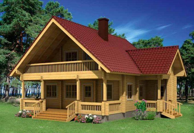 Casas en Kit de madera Elisa 135,8m² – 10×10