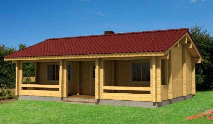 Kit casa madera Elly 61,9m² – 9,80×7,20