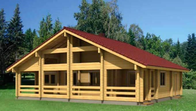Casas de Madera Kit Esther 110,4m² – 12,00×10,30
