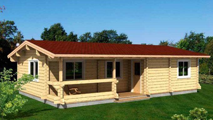 Kit casas en madera Evelin 70,7m² – 10,90×8,04