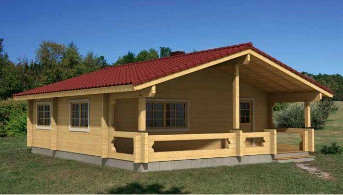 Casas de madera laminada en Kit Ingrid 69,9m² – 9,60×8,00