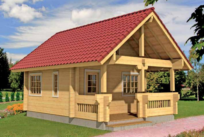 Casas de Madera en Kit Johanna 47,6m² 8,80×4,80