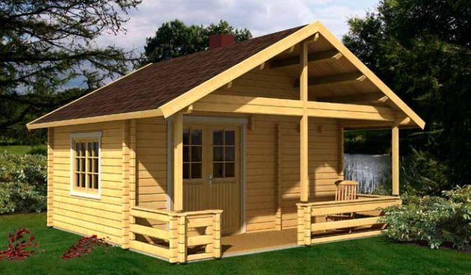 Casita de madera sauna Kit Leia 1 – 26m² 5.20×5.20