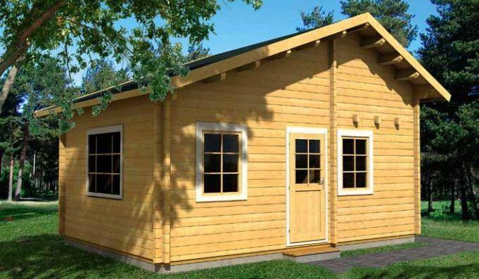 Casa de madera en Kit Marika 30,4m² 4,00×5,80