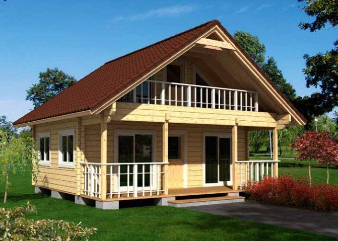 Casas de madera maciza en Kit Marta 68,5m² – 7,20×6,30