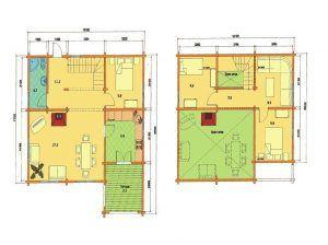 Plano de vivienda de madera en kit Olivia