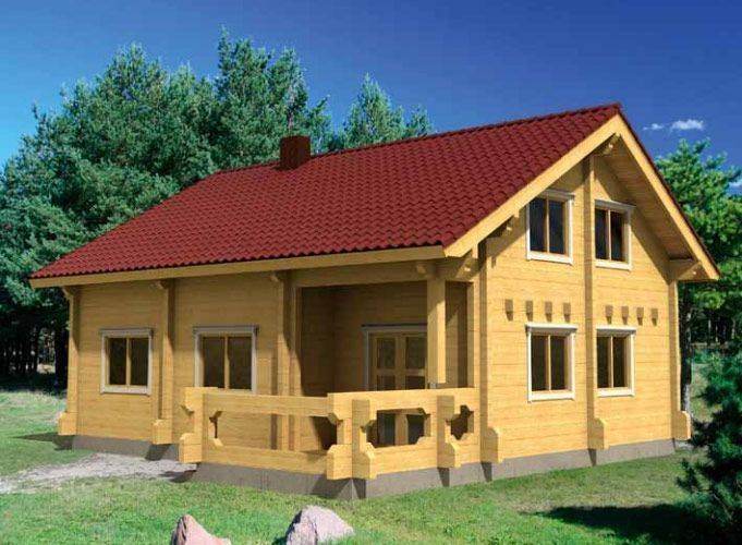Vivienda de madera en Kit Olivia 105,4m² – 10×10