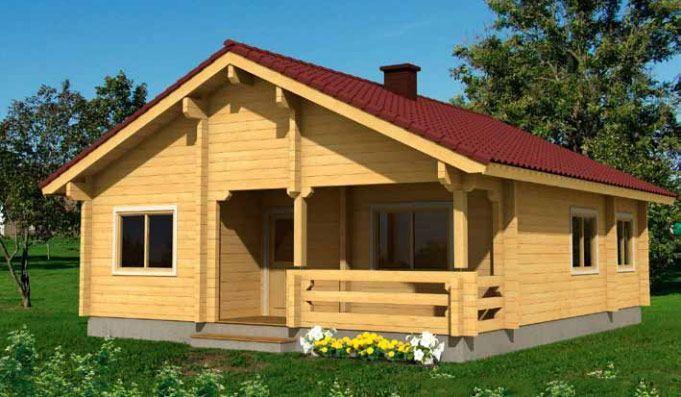 Kit de casa de madera Regina 77,1m² – 10,00×8,50