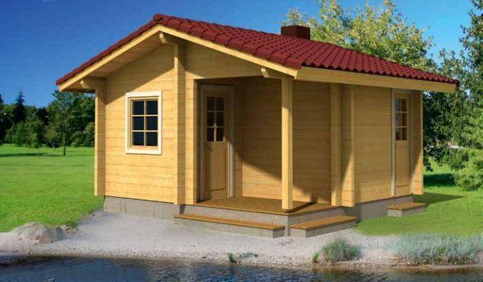 Casa de Madera en Kit Sauna Sofia 15m² 4.70×4.40