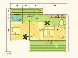 Plano de kit casas de madera Solveig