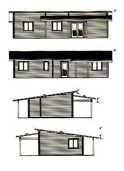 alzados de kit casas de madera solveig