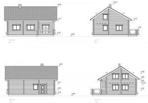 Alzados de vivienda de madera en kit