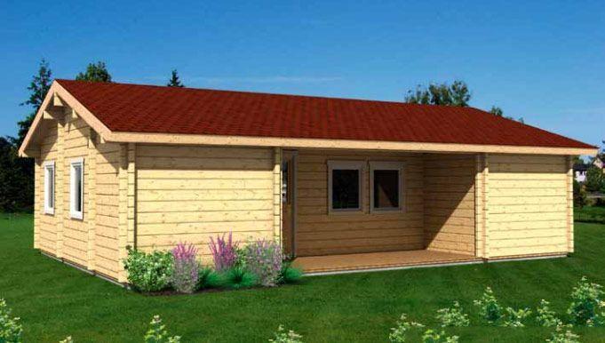 Kit de casas de madera Ursula 66,4m² – 10,20×7,00