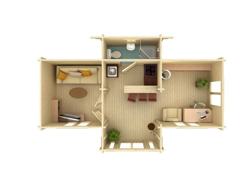 Caba a de vacaciones anna 26 8 m casas carbonell - Fin de semana en cabanas de madera ...