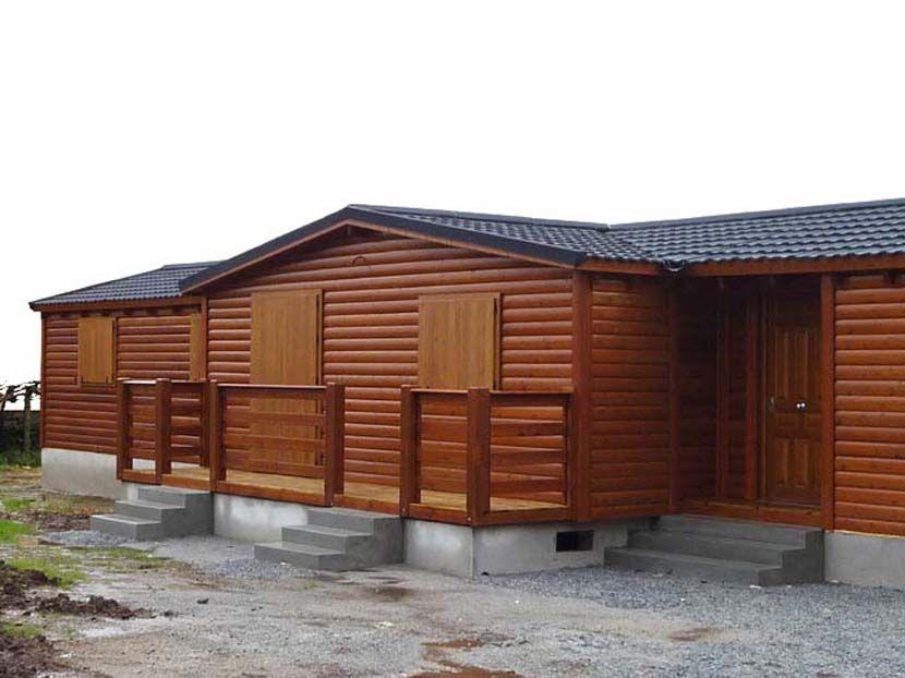 Casa prefabricada de madera modelo Melocotonero 102m² 17,85×7,30