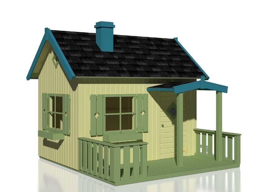 Caseta infantil de madera otto casas de madera carbonell - Caseta infantil madera ...