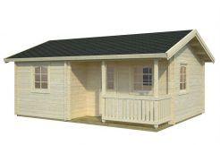 casita de madera para vacaciones Sandra 21.4 de Casas Carbonell de madera maciza