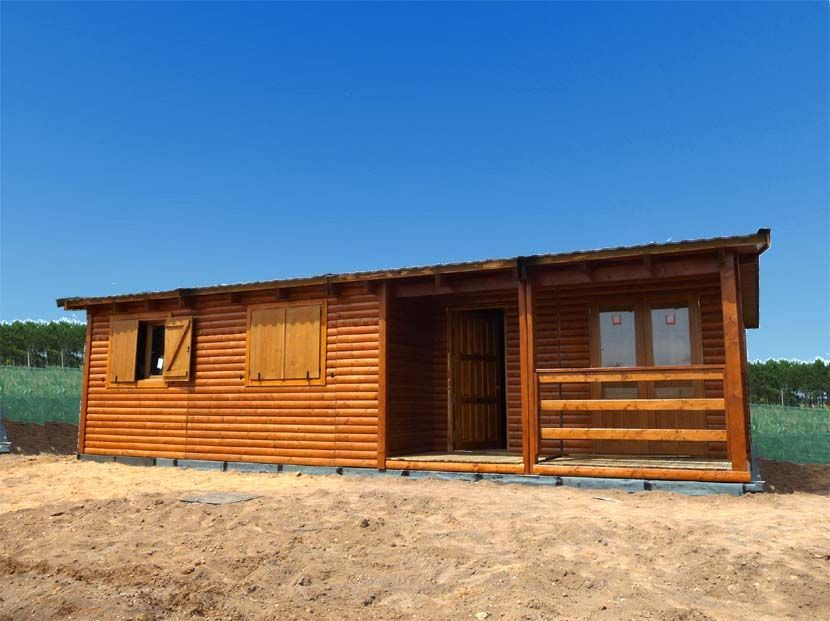 Casa Prefabricada en Madera, modelo Arandano 74m² 7,50×9,80