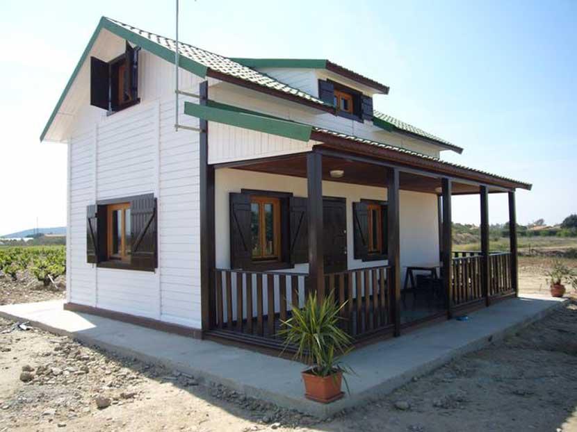 Casas de madera modelo Piscis 100m² de Casas Carbonell