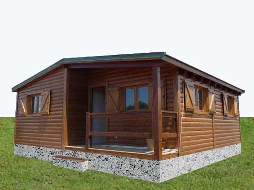 Casas prefabricadas de madera, modelo Limonero 55m² 7,50×7,25