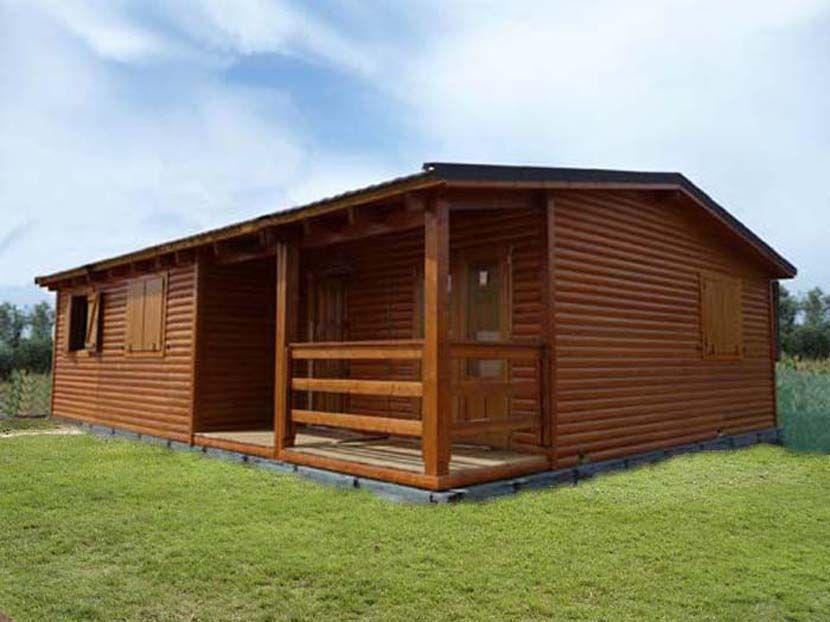 Casa prefabricada de madera modelo Carpato Nogal 93 m² - Casas Carbonell