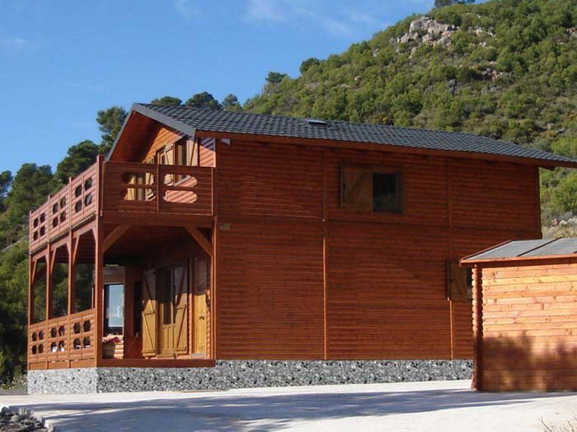Casa prefabricada de madera, modelo Sagunto 120m²