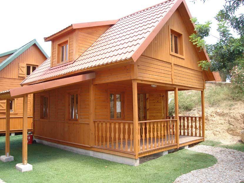 Casa abuhardillada de madera, modelo Virgo 67m²