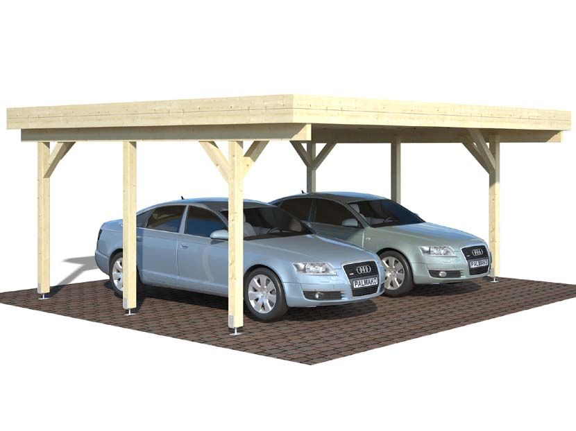 Cochera CARPORT KARL 20,6 m² 600×512