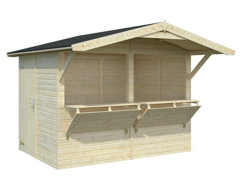Quiosco de madera Stella 5,0m² 273×190