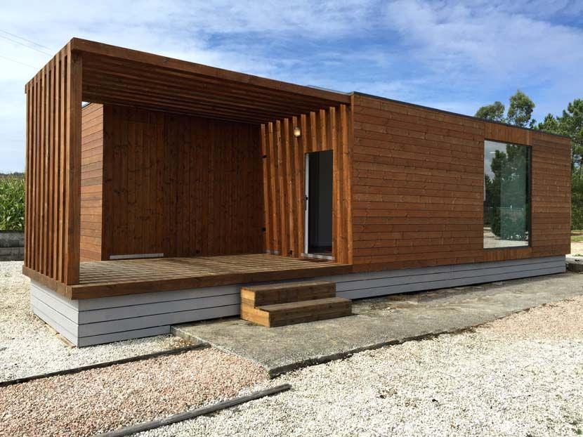 Casa prefabricada moderna helena 48 m terraza casas carbonell - Casas modulares modernas ...