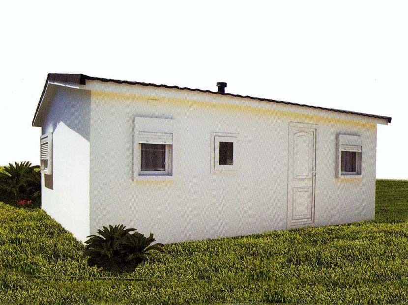 Casa prefabricada Hergohomes, modelo Rodas de 30m²